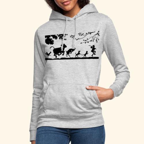 animales caminando - Sudadera con capucha para mujer