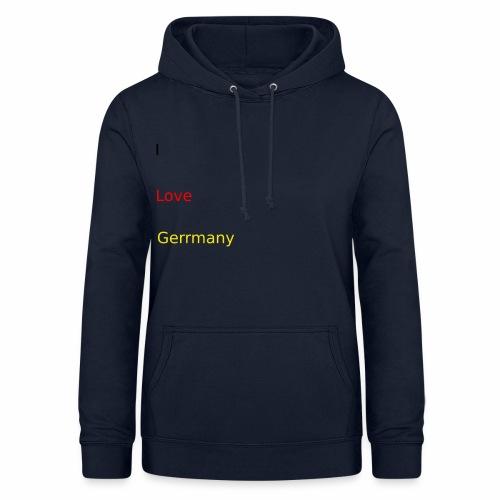 deutschland germany liebe love ich ego farbe - Frauen Hoodie