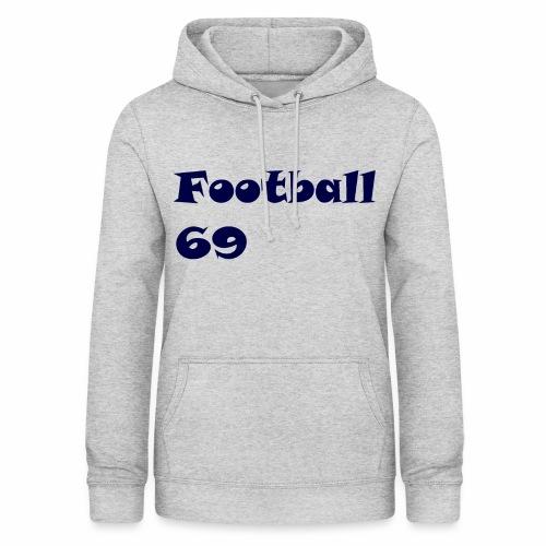 Fußball Football 69 outdoor T-shirt blue - Frauen Hoodie
