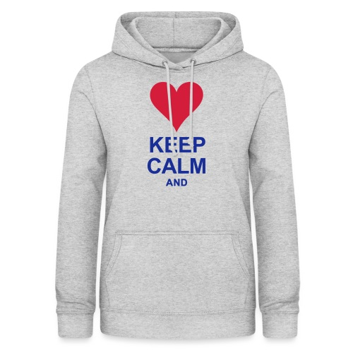Be calm and write your text - Women's Hoodie