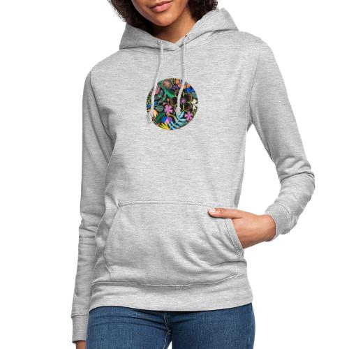 Flowers in the dark - Sudadera con capucha para mujer
