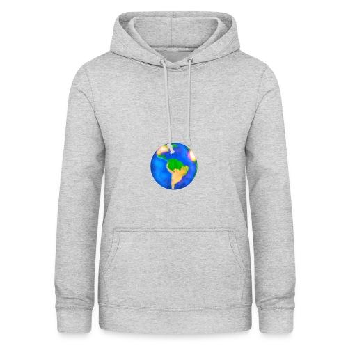 Erde trifft auf Weiß - Frauen Hoodie
