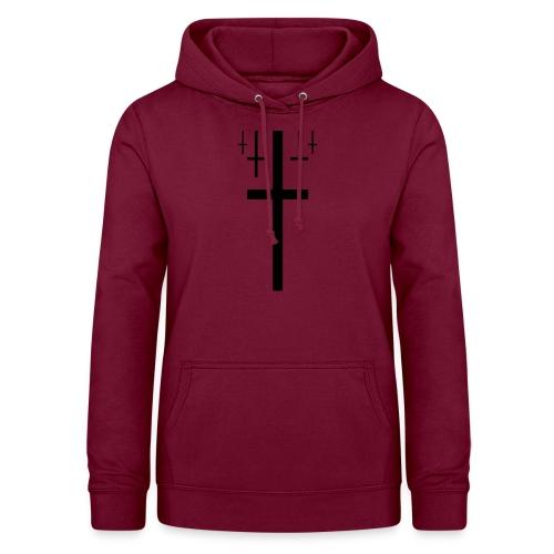 cross christus god jesus black - Women's Hoodie