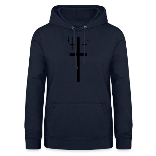 cross christus god jesus black - Women's Hoodie