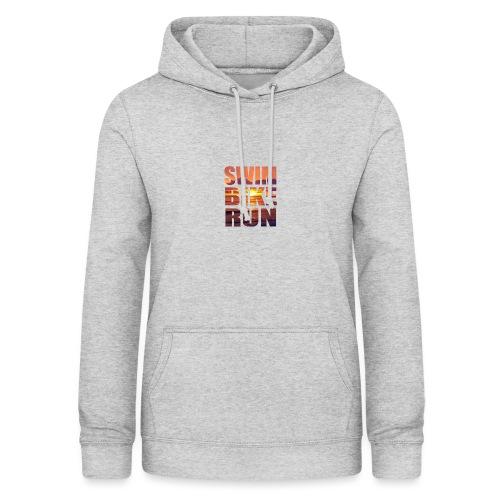 swim bike run @RUNNINGFORCE - Frauen Hoodie