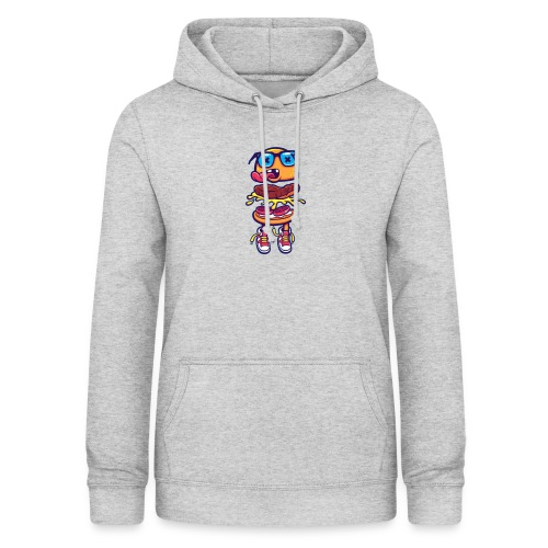 Hipster Hamburger - Sudadera con capucha para mujer