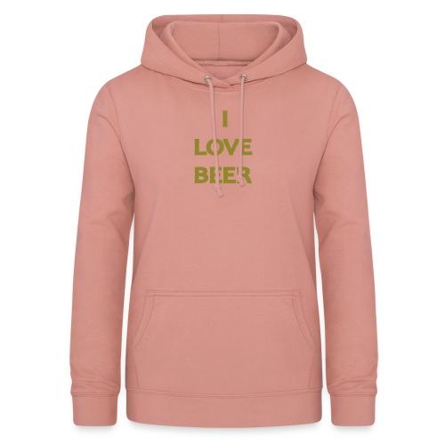 I LOVE BEER - Felpa con cappuccio da donna