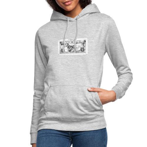 Maglietta Banconota Bitcoin 1 - Felpa con cappuccio da donna