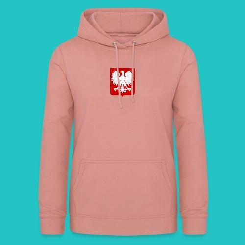 Koszulka z godłem Polski - Bluza damska z kapturem