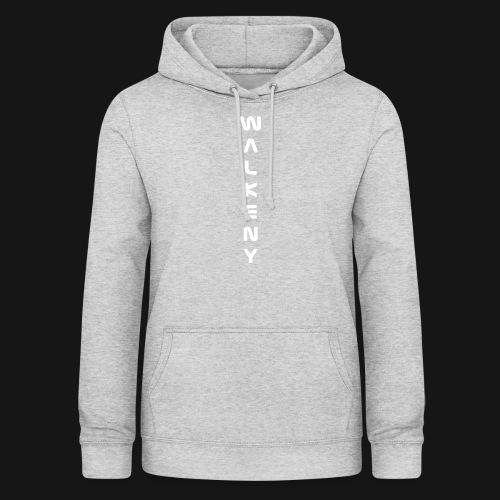 Walkeny Schriftzug vertikal in weiß - Frauen Hoodie