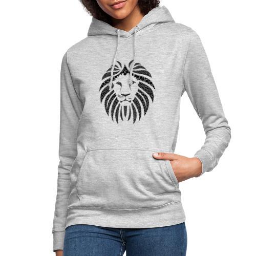 MonkeyShy lion noir symétrique - Sweat à capuche Femme