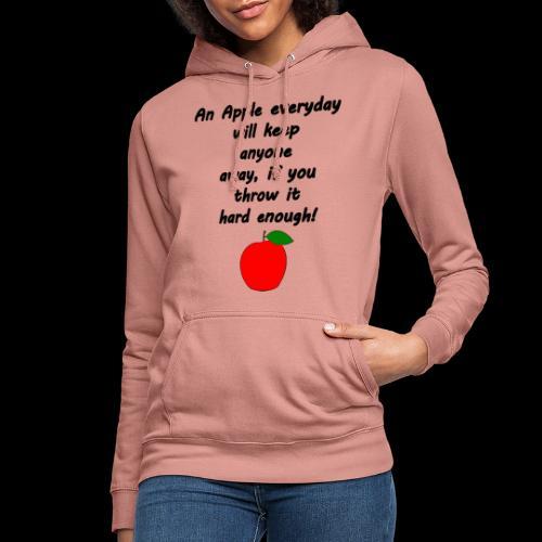Apple Apfel Doctor Zitat Spruch Lustig - Frauen Hoodie