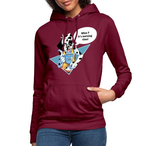 Dalmatian with his morning coffee - Women's Hoodie
