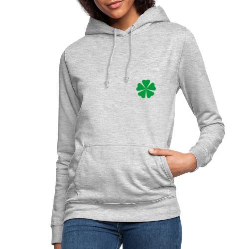 Trébol minimalista - Sudadera con capucha para mujer