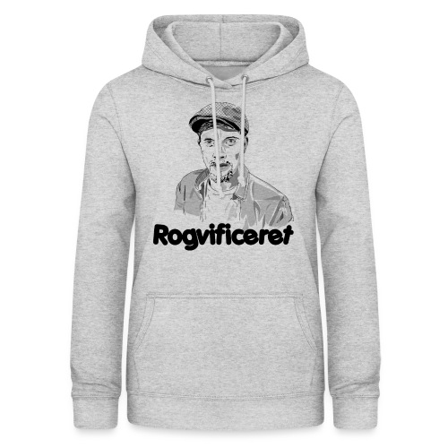 Rogvificeret merch - Sort tekst. - Dame hoodie