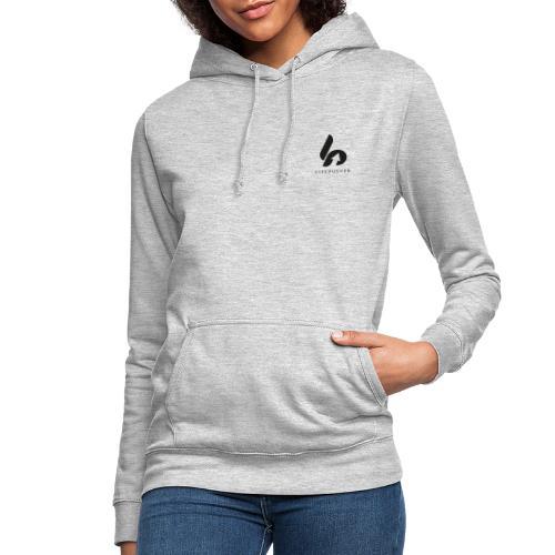 Lifepusher Logo Schwarz mit Text - Frauen Hoodie