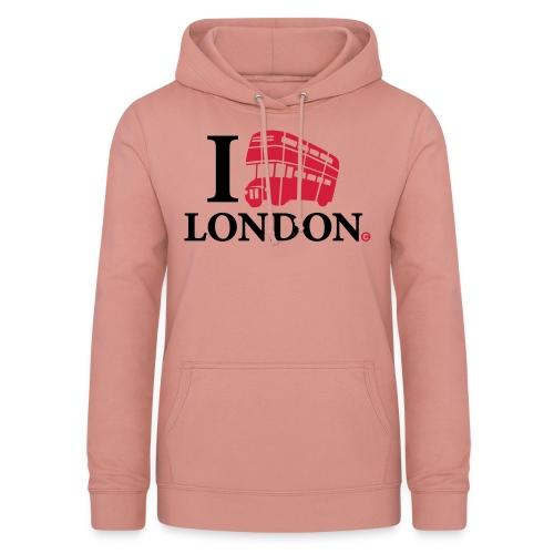 I love (Double-decker bus) London - Women's Hoodie