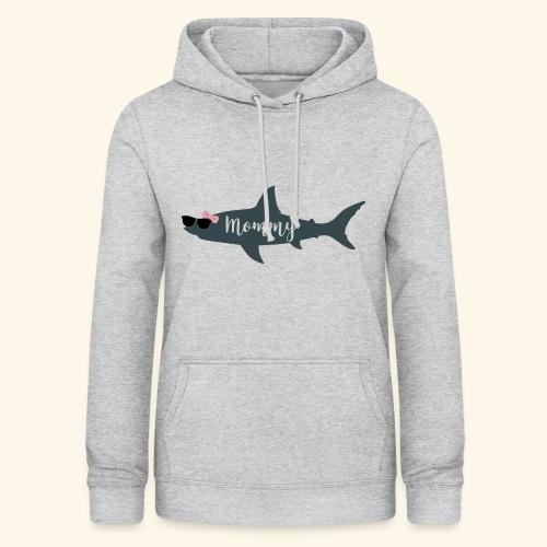Mommy shark - Sudadera con capucha para mujer