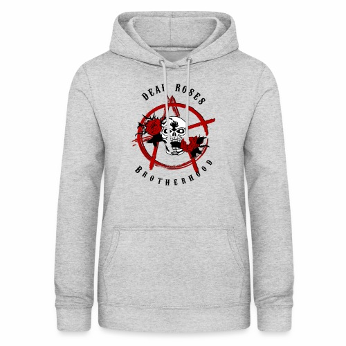 Dead Roses Anarchy Skull Black - Women's Hoodie
