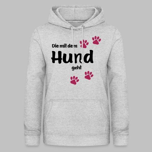 Die Mit Dem Hund Geht - Edition Colored Paw - Frauen Hoodie