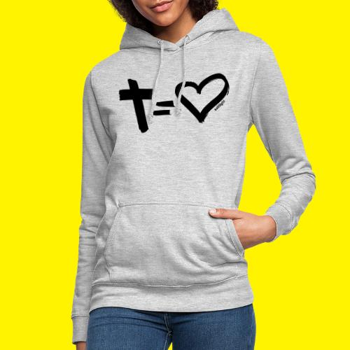 Cross = Heart BLACK - Women's Hoodie