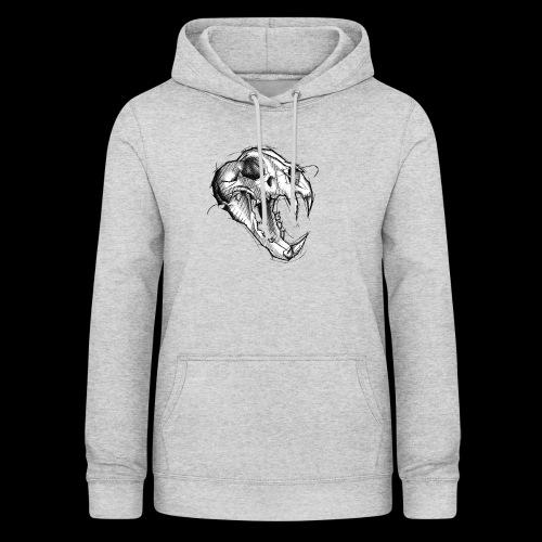 Teschio Tigre - Felpa con cappuccio da donna