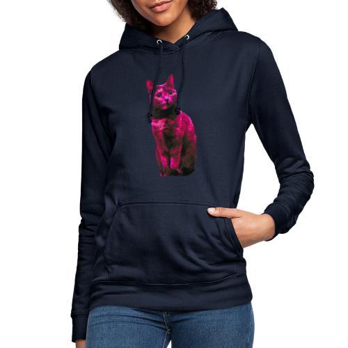 Gatto - Felpa con cappuccio da donna