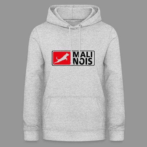 Malinois logo fuer weissen Grund - Frauen Hoodie