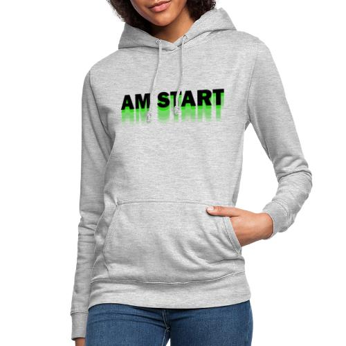 am Start - grün schwarz faded - Frauen Hoodie