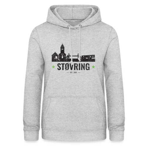 Støvring City Black Green - Dame hoodie