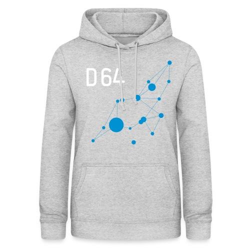 D64 Netzwerk zweifarbig - Frauen Hoodie