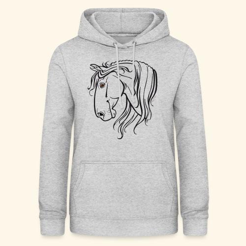 Cheval espagnol (noir) - Sweat à capuche Femme