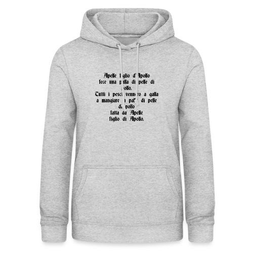 Sciogli Lingua Maglietta Uomo Donna Divertente - Felpa con cappuccio da donna