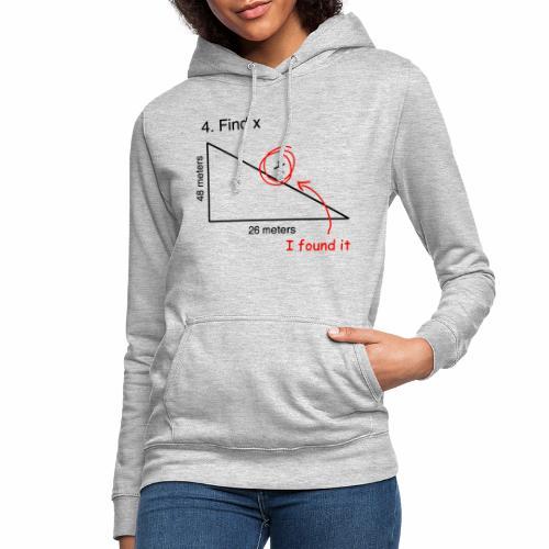 FIND x - Sudadera con capucha para mujer