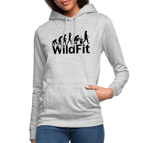 WildFit Logo Evolution in Schwarz - Frauen Hoodie