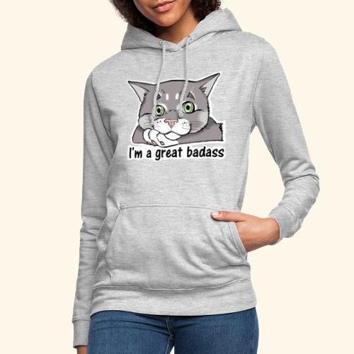 Nice Dogs CATS - Felpa con cappuccio da donna