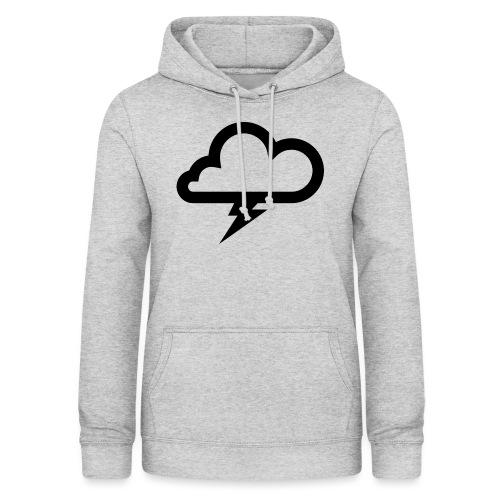 Wolke mit Blitz - Frauen Hoodie