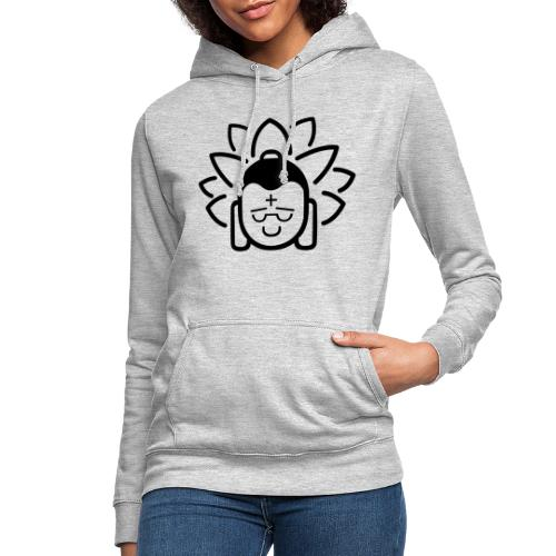 Boeddha hoofd blad - Vrouwen hoodie
