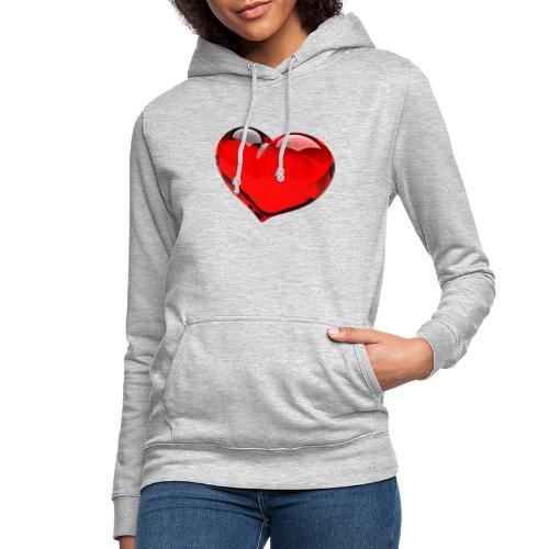 serce 3D - Bluza damska z kapturem