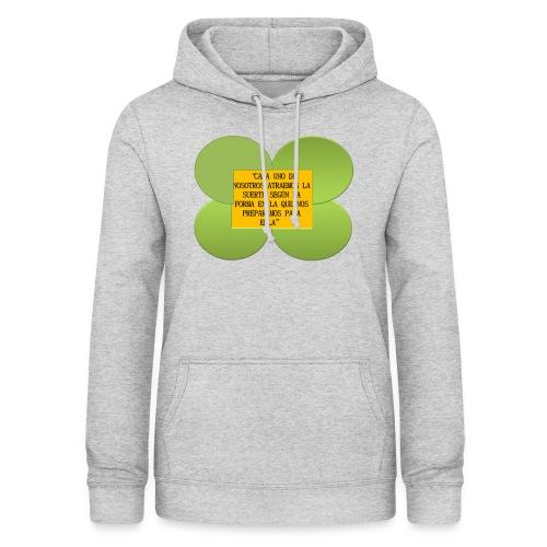 trebol de la suerte - Sudadera con capucha para mujer