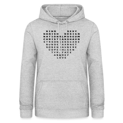 Copenhagen Heart - Dame hoodie