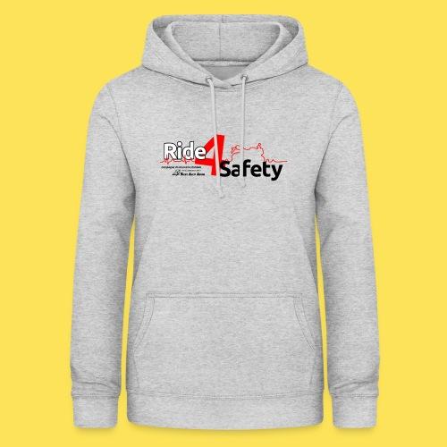 Ride4Safety - Felpa con cappuccio da donna