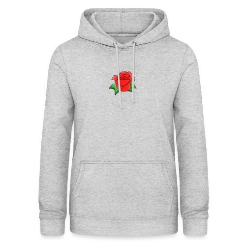 Rosa - Felpa con cappuccio da donna