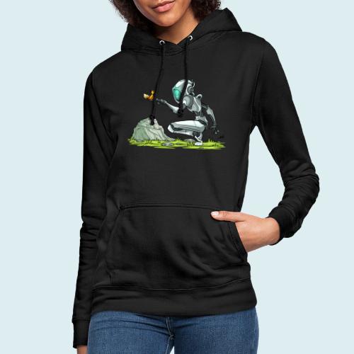 funny robot - Felpa con cappuccio da donna