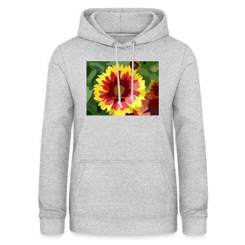Flor - Sudadera con capucha para mujer