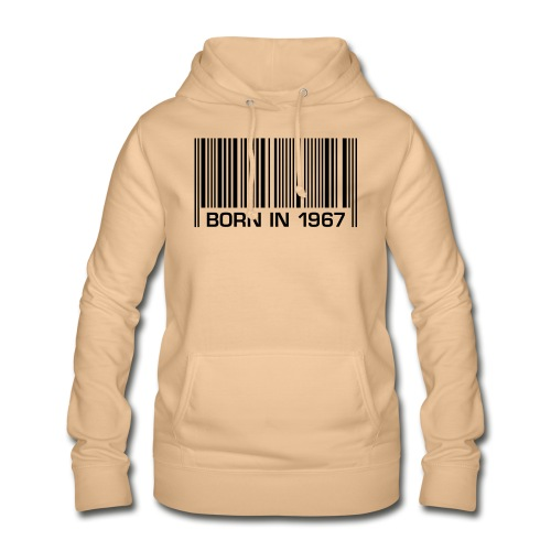 born in 1967 50th birthday 50. Geburtstag barcode - Women's Hoodie