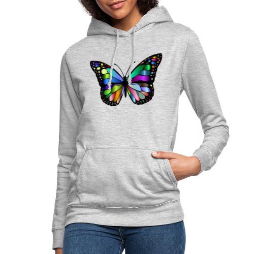 Kolorwy Motyl - Bluza damska z kapturem