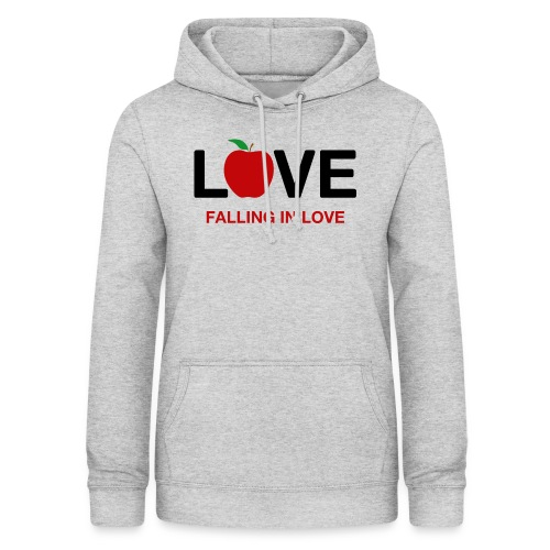 Falling in Love - Black - Women's Hoodie