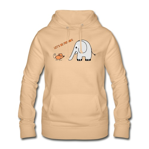 Elephant and mouse, friends - Women's Hoodie