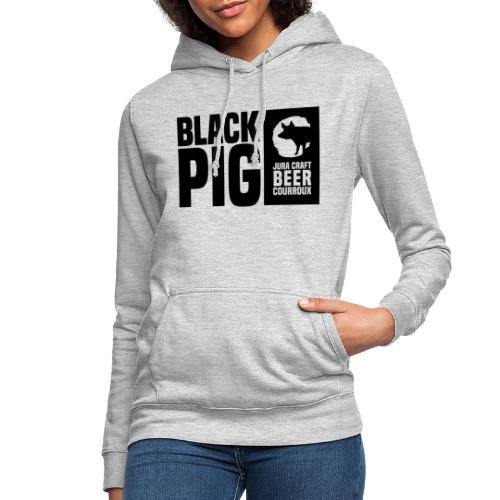 BlackPig Horizontal Noir - Sweat à capuche Femme
